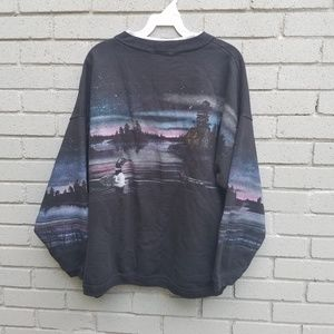 VTG duck on water sweater L